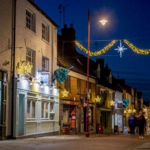 Daventry High Street at Night